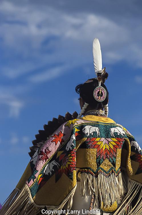 Pow Wow dancer, beaded shawl, Arizona
