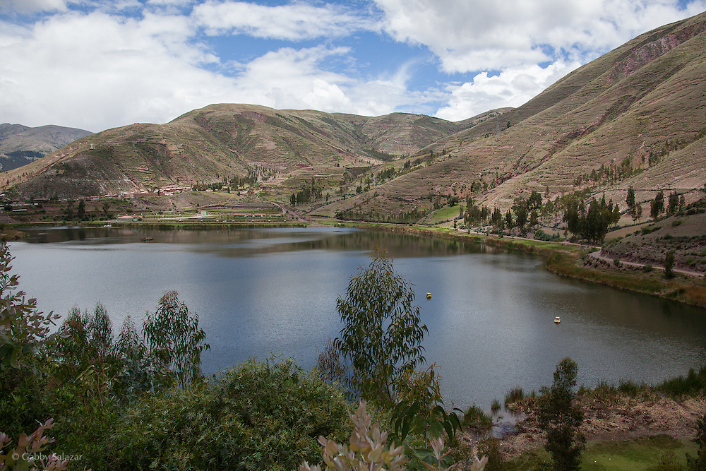 Urcos Lagoon near the city of Urcos, about 30 minutes from Cusco along the Interoceanica Sur highway between Cusco and Puerto Maldonado, Peru. A 430 kilometer section of the transcontinental Interoceanic Highway that crosses Peru and Brazil.