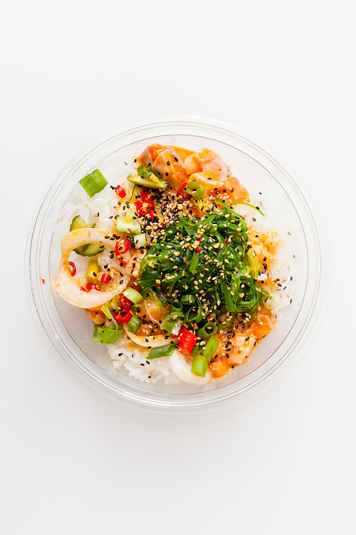 Spicy Salmon Bowl from Pokeworks ($6.96) - MealPal