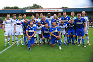 Legends and All Stars during the Joe Thompson's Allstars v Joe Thompson's Celebrity 11 in Rochdale at the Crown Oil Arena, Rochdale, England on 21 July 2019.