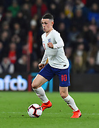 Phil Foden of England U21's during the U21 International match between England and Germany at the Vitality Stadium, Bournemouth, England on 26 March 2019.