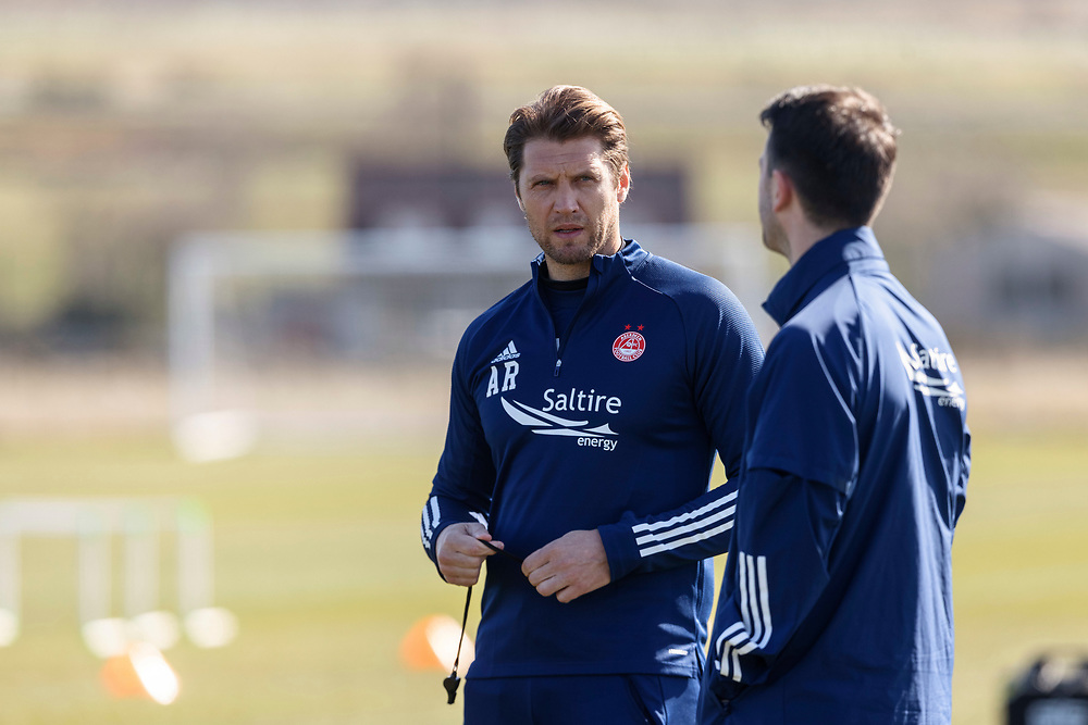 ABERDEEN FC TRAINING WITH NEW MANAGER STEPHEN GLASS AT CORMACK PARK<br /> <br /> PICTURE OF  ALLAN RUSSELL <br /> <br /> PIC DEREK IRONSIDE / NEWSLINE MEDIA