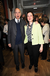 LORD MOSER and MARIE-HELENE OSTERWEIL at the opening reception of the new Jewish Museum, Raymond Burton House, 129-131 Albert Street, London NW1 on 16th March 2010.