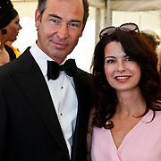 NLD/Amsterdam/20100605 - Amsterdamdiner 2010, Caroline de Bruijn en partner Erik de Vogel