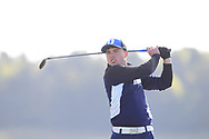 Odhran Maguire (Slieve Russell) on the 2nd tee during Round 2 of the Ulster Boys Championship at Donegal Golf Club, Murvagh, Donegal, Co Donegal on Thursday 25th April 2019.<br /> Picture:  Thos Caffrey / www.golffile.ie