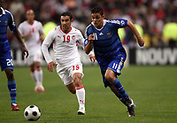 Fotball<br /> Frankrike v Tunis<br /> Foto: DPPI/Digitalsport<br /> NORWAY ONLY<br /> <br /> FOOTBALL - FRIENDLY GAMES 2008/2009 - FRANCE v TUNISIA - 14/10/2008 - HATEM BEN ARFA (FRA) / ANIS BOUJELBENE (TUN)