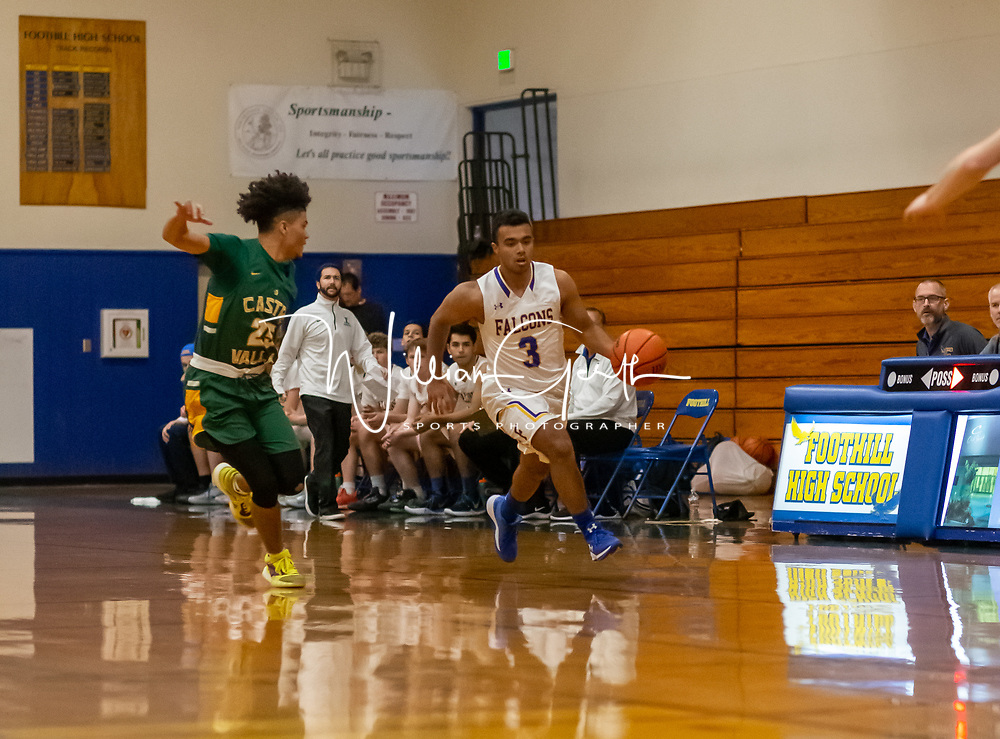 Castro Valley vs Foothill High School in a non-league basketball game on 12/23/2019 (photo by Bill Gerth)