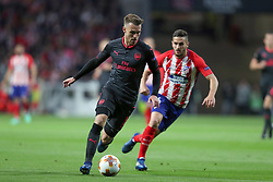 May 3, 2018 - Madrid, Spain - AARON RAMSEY of Arsenal FC during the UEFA Europa League, semi final, 2nd leg football match between Atletico de Madrid and Arsenal FC on May 3, 2018 at Metropolitano stadium in Madrid, Spain (Credit Image: © Manuel Blondeau via ZUMA Wire)