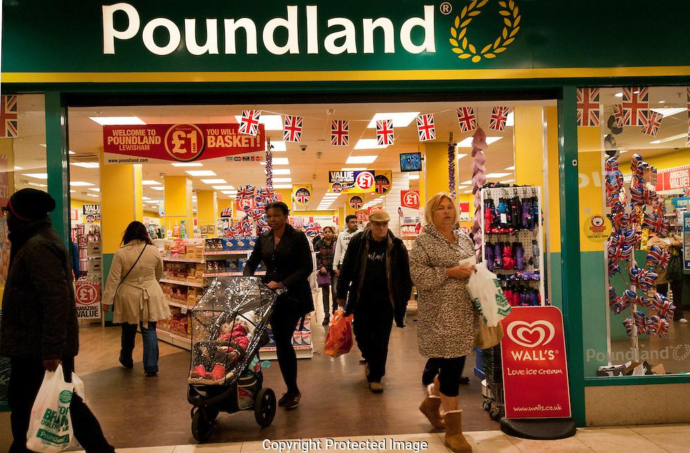 Poundland Shop in Lewisham South London