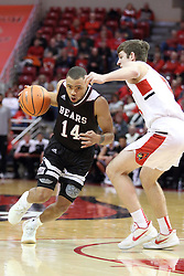 07 January 2018:  Ronnie Rousseau III works around Matt Hein during a College mens basketball game between the Missouri State Bears and Illinois State Redbirds in Redbird Arena, Normal IL