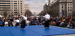 Washington, DC: Cherry Blossom Festival.  Japanese Martial arts demonstration.  Photo #: washch115 (nef250)..Photo copyright Lee Foster, www.fostertravel.com, 510-549-2202, lee@fostertravel.com