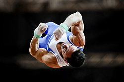 November 2, 2018 - Doha, Qatar - Eleftherios Petrounias of Greece   during  Rings for Men at the Aspire Dome in Doha, Qatar, Artistic FIG Gymnastics World Championships on 2 of November 2018. (Credit Image: © Ulrik Pedersen/NurPhoto via ZUMA Press)