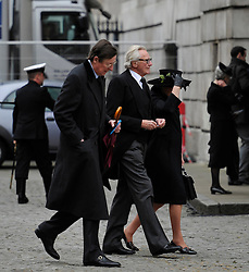 © Licensed to London News Pictures. 17 April 2013. St Paul's Cathedral London. Michael Heseltine. Funeral of Baroness Thatcher, former Conservative Prime Minister. Photo credit : MarkHemsworth/LNP