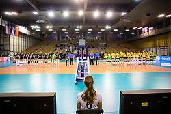 26-11-2015 SLO: Champions League Calcit Ljubljana - VakifBank Istanbul, Ljubljana<br /> Teams during the volleyball match between Calcit Ljubljana and VakifBank Istanbul<br /> <br /> ***NETHERLANDS ONLY***