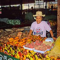 Oceania, South Pacific, French Polynesia, Tahiti. Papeete Market.