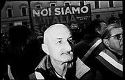 Supporter of Lega Nord Party Matteo Salvini during demonstration 'Italia sovrana', (Italy Sovereign) on January 28, 2017 in Rome, Italy, Rome 28 January 2017 . Christian Mantuano / OneShot