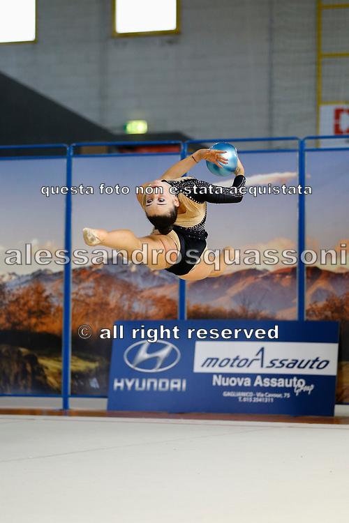 Sara Bonassi della Ritmiva VCO gareggia al Campionato Regionale Specialità Gold a Candelo in Piemonte il 12-09-21.