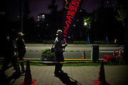 TOKYO, JAPAN, 28 SEPTEMBER - Kasumigaseki -  Demostration anti-nuclear in front of  the National Diet Bulding (Kokkai Gijidou) - Every Friday, from 6:00 to 9:00 PM, thousands of people are protesting about  the resuption of the nuclear power after Fukushima's crisis. - September 2012