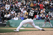 CHICAGO - APRIL 17:  Jesse Crain #26 of the Chicago White Sox pitches against the Los Angeles Angels of Anaheim on April 17, 2011 at U.S. Cellular Field in Chicago, Illinois.  The Angels defeated the White Sox 4-2.  (Photo by Ron Vesely)  Subject:  Jesse Crain