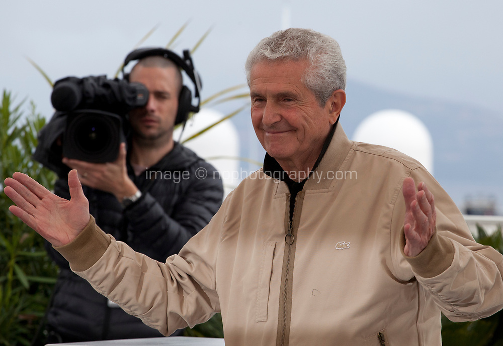 Director  Claude Lelouch at The Best Years of a Life (Les Plus Belles Années D'une Vie) film photo call at the 72nd Cannes Film Festival, Sunday 19th May 2019, Cannes, France. Photo credit: Doreen Kennedy