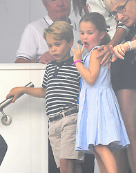 Prince George and Princess Charlotte at The King's Cup Regatta, Cowes, Isle of Wight. Photo credit should read: Doug Peters/EMPICS