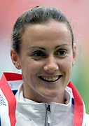 Hayley Tullett of Great Britain, bronze medalist in the women's 1,500 meters in the IAAF World Championships in Athletics at Stade de France on Sunday, Aug. 31, 2003.