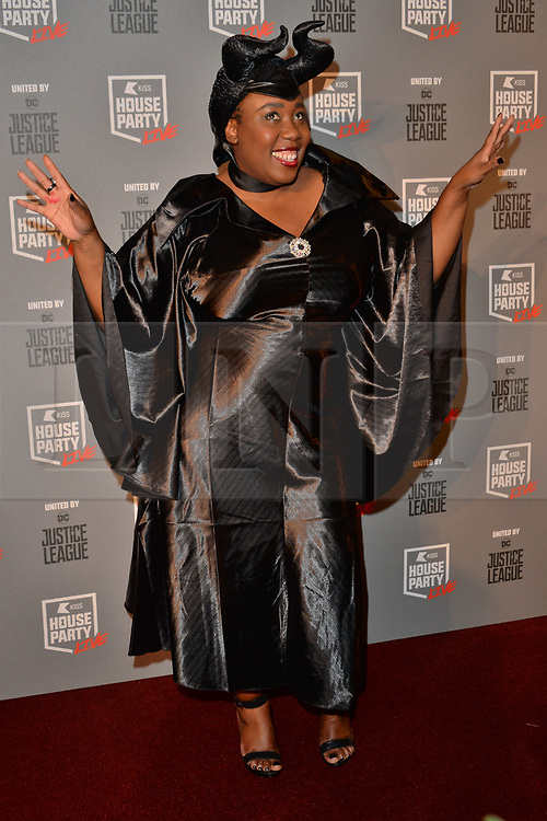 © Licensed to London News Pictures. 26/10/2017. London, UK. Chizzy Akudolu attends the Kiss House Party Live event at the SSE Wembley Arena. Photo credit: Ray Tang/LNP