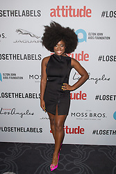 EDITORIAL USE ONLY<br /> Clara Amfo attends the 2016 Attitude Award the 2016 Attitude Awards in association with Virgin Holidays, at 8 Northumberland Avenue, London.
