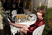 CAROL RYAN RESTING HER FEET , Party for Perfect Lives by Polly Sampson. The 20th Century Theatre. Westbourne Gro. London W11. 2 November 2010. -DO NOT ARCHIVE-© Copyright Photograph by Dafydd Jones. 248 Clapham Rd. London SW9 0PZ. Tel 0207 820 0771. www.dafjones.com.