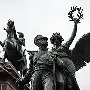Statue of Jose de San Martín in Plaza San Martin in Buenos Aires Argentina.
