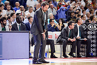 Unicaja Malaga's coach Joan Plaza during semi finals of playoff Liga Endesa match between Real Madrid and Unicaja Malaga at Wizink Center in Madrid, May 31, 2017. Spain.<br /> (ALTERPHOTOS/BorjaB.Hojas)