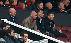 (left to right) Mike Phelan, Nicky Butt, Ryan Giggs and Michael Carrick in the stands