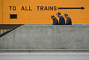 To All Trains: Oakland's 12 Street BART station ..photo by Jason Doiy.3-1-10.