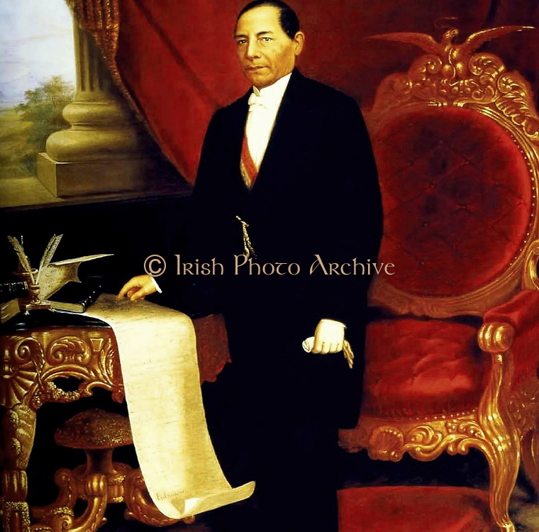 Benito Juarez (March 21, 1806 - July 18, 1872) born Benito Pablo Juarez Garcia, was a Mexican lawyer and politician of Zapotec origin from Oaxaca who served five terms as president of Mexico: 1858–1861 as interim, 1861–1865, 1865–1867, 1867–1871 and 1871–1872.