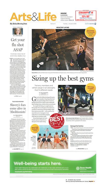The Dallas Morning News -Arts & Life, E1, January 8, 2013.