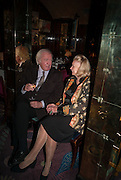 ANDREW SINCLAIR; LADY SONIA SINCLAIR, Launch of book by Nicholas Coleridge.- The Adventuress. Annabels. Berkeley Sq. London. 9 October 2012.