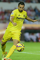 Villarreal's Mario during the match between Sevilla FC and Villarreal day 9 spanish  BBVA League 2014-2015 day 5, played at Sanchez Pizjuan stadium in Seville, Spain. (PHOTO: CARLOS BOUZA / BOUZA PRESS / ALTER PHOTOS)