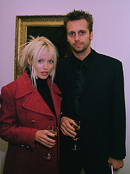 Singer DANNI MINOGUE and MR STEVE SHAW at an exhibition in London on 3rd December 1997.MDZ 18