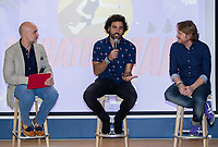 "Fernando Jerez, Raul Gomez and David Moncasi during the presentation of ""Maraton Man"", a new tv program of Movistar+. May 25,2016. (ALTERPHOTOS/Rodrigo Jimenez)"