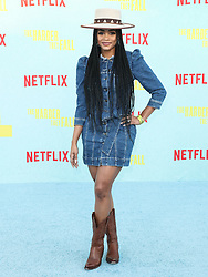 Media personality/attorney Rachel Lynn Lindsay Abasolo arrives at the Los Angeles Premiere Of Netflix's 'The Harder They Fall' held at the Shrine Auditorium and Expo Hall on October 13, 2021 in Los Angeles, California, United States. Photo by Xavier Collin/Image Press Agency/ABACAPRESS.COM