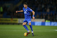Marko Grujic of Cardiff city in action. EFL Skybet championship match, Cardiff city v Bolton Wanderers at the Cardiff city Stadium in Cardiff, South Wales on Tuesday 13th February 2018.<br /> pic by Andrew Orchard, Andrew Orchard sports photography.