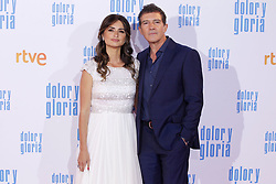 MADRID, SPAIN - March 13: Penelope Cruz and Antonio Banderas at the premiere on Dolor y Gloria at the Capitol theater in Madrid, Spain on March13, 2019. ***NO SPAIN***. 13 Mar 2019 Pictured: Penelope Cruz and Antonio Banderas. Photo credit: RJO/MPI/Capital Pictures / MEGA TheMegaAgency.com +1 888 505 6342