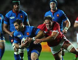 Tyler Ardron (c) of Canada tackles Scott Spedding of France  - Mandatory byline: Joe Meredith/JMP - 07966386802 - 01/10/2015 - Rugby Union, World Cup - Stadium:MK -Milton Keynes,England - France v Canada - Rugby World Cup 2015