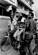 Peter Tosh on Monocycle downtown Kingston jamaica 1978