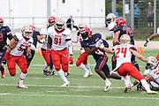 American Football: European League of Football, Hamburg Sea Devils - Berlin Thunder, Hamburg, 11.07.2021<br /> Xavier Johnson (Sea Devils, l.)<br /> © Torsten Helmke