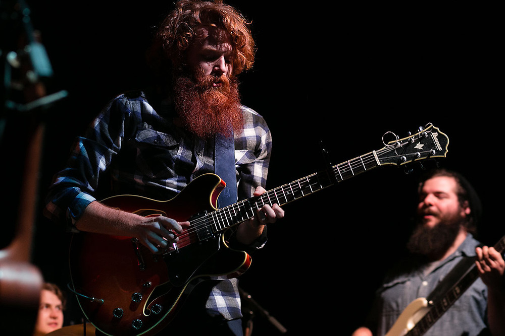 Nathan Allen performs during an encore at the Kessler Theater