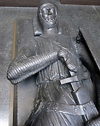 Plaster cast, English, Monument in Reigate stone, possibly of Gilbert Marshal, Earl of Pembroke (d.1241) in the Temple Church, London; middle of the 13th century.
