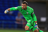 goalkeeper David Marshall of Cardiff city in action. .EFL Skybet championship match, Cardiff city v Blackburn Rovers at the Cardiff city stadium in Cardiff, South Wales on Wednesday 17th August 2016.<br /> pic by Andrew Orchard, Andrew Orchard sports photography.