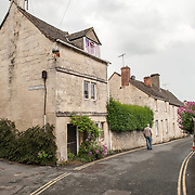 Resdiential street in Painswick, Gloucestershire.