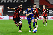 Harry Arter (31) of Nottingham Forset on the attack battles for possession with Lewis Cook (16) of AFC Bournemouth during the EFL Sky Bet Championship match between Bournemouth and Nottingham Forest at the Vitality Stadium, Bournemouth, England on 24 November 2020.
